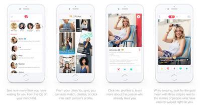 Tinder Gold Lets You See Who Swiped Right On You