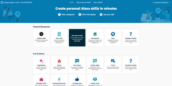 New Alexa Blueprints let users make custom skills without knowing any code