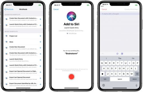 An Overview of Siri Shortcuts in MindNode