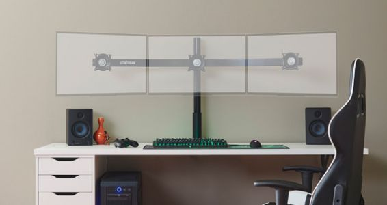 Echogear's 3-monitor mount is a breeze to set up and adjust