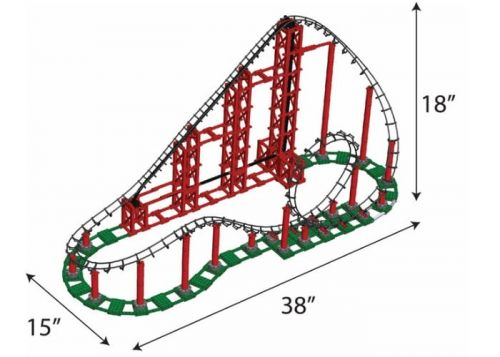 Sidewinder LEGO compatible rollercoaster construction kit