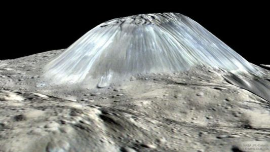 Ice volcanoes have likely been erupting for billions of years on Ceres