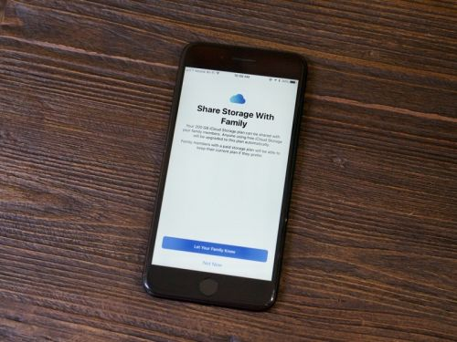 How to share your iCloud storage with your family