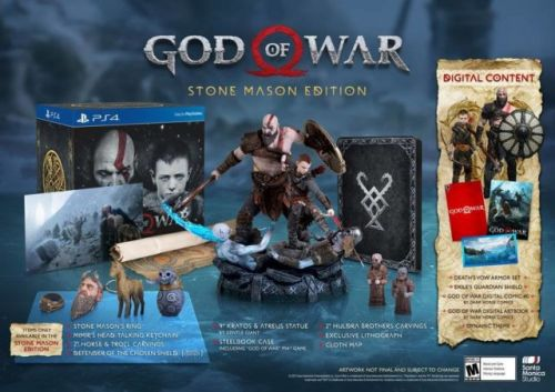 God of War Stone Mason Edition Spotted On GameStop's Website