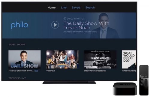 Live Streaming TV Service 'Philo' Launches on Apple TV