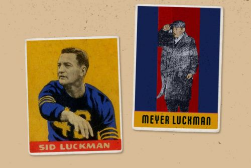 NFL Great Sid Luckman's Father Took a Rap for Murder Inc