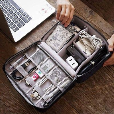 Keep your cables managed with this $9 electronics organizer