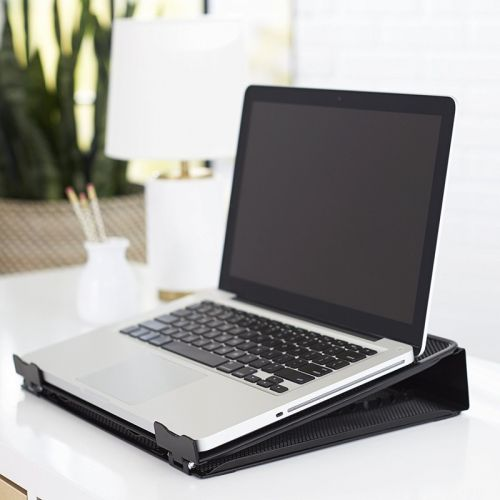 Keep your laptop cool with this $16 AmazonBasics ventilated laptop stand