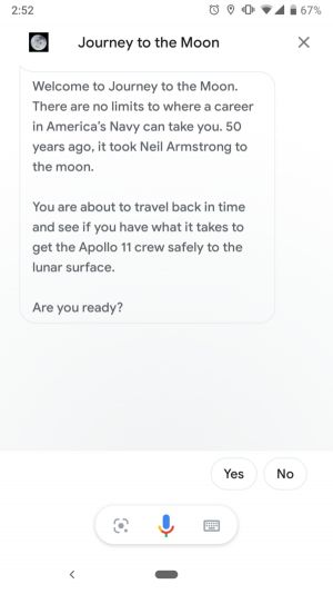 Google Assistant Gets New Interactive Game 'Journey To The Moon'