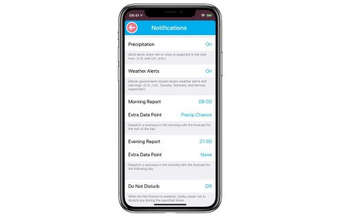How to get daily weather summaries and precipitation notifications from CARROT Weather