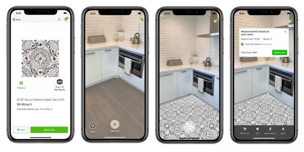 Houzz app gets 'My Room 3D' tool update, now able to place tile flooring in AR