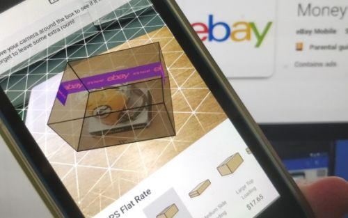 EBay uses augmented reality to help sellers find the right box for their product