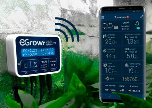 EGROW hydroponic growing remote monitoring system