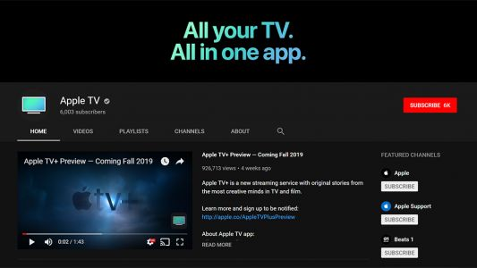 Apple has quietly launched an official Apple TV YouTube channel