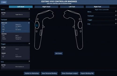 Valve's SteamVR Input enables alternate control schemes in VR