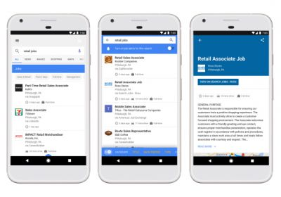 Google Search taps Monster, Facebook, Glassdoor, others to let you job hunt and receive email alerts