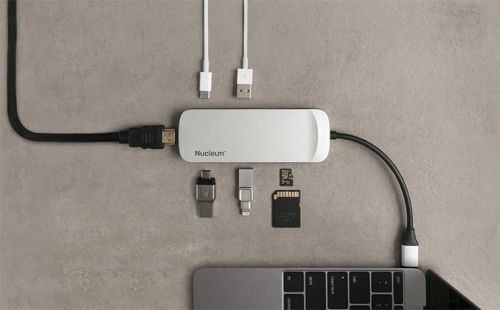 Kingston at CES 2018: Nucleum, a Portable 7-in-1 USB-C Dock for Notebooks
