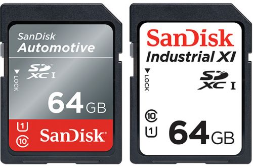 SanDisk Launches SD and microSD for Industrial and Automotive: Extreme Temps, Upped Reliability