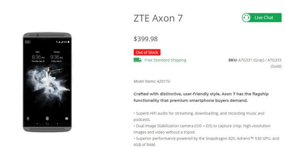 ZTE Axon 7 Is Out Of Stock In The US, Is Axon 8 Coming?