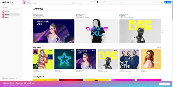 Apple Music For The Web Has Been Launched