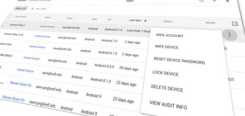 G Suite admins can now remotely lock employees' Android devices and reset passwords