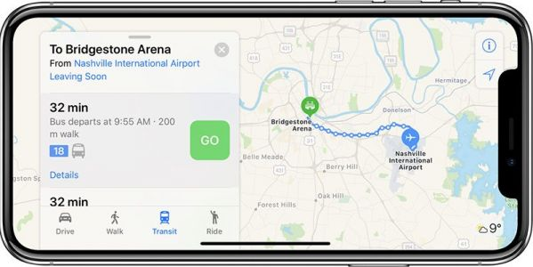 Apple Maps Now Supports Transit in Tennessee, Including Nashville, Memphis, and Knoxville Areas
