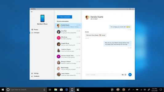 Latest Windows 10 preview lets you text from your PC via Your Phone app
