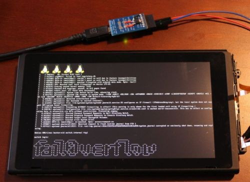 Hackers hijack Nintendo Switch, show Linux loaded on console