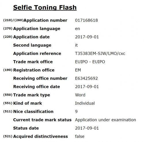 Huawei Files For A 'Selfie Toning Flash' Trademark