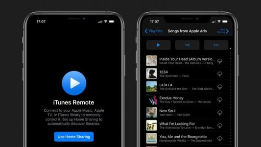 ITunes Remote app updated to support Dark Mode