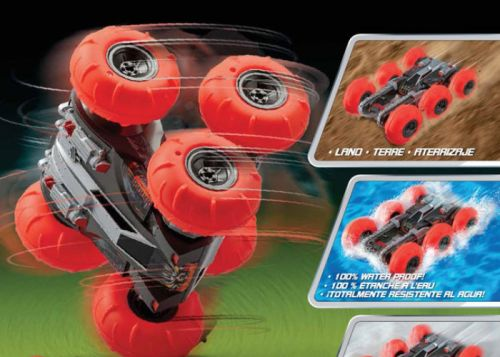 Six wheel tumbling amphibious RC car from $44