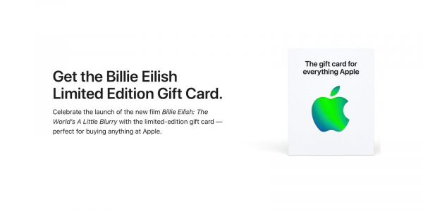 Apple selling limited-edition Billie Eilish Gift Card following TV+ documentary release