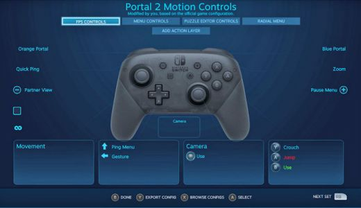 Steam beta adds now supports Nintendo's Switch Pro Controller