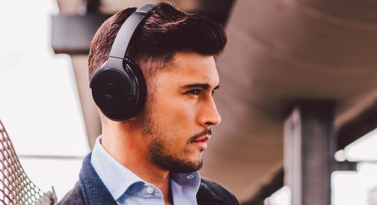 These Audio Technica headphones offer 35 hours of custom noise cancellation