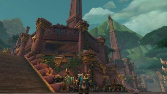 World of Warcraft: Battle for Azeroth wows with city of Mayan-inspired Trolls and dinos