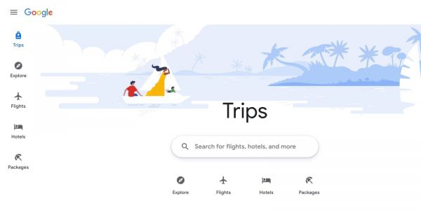 New Google Travel site replacing Trips app, brings together Flights & Hotels search