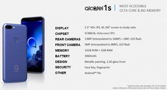 Alcatel's Spring Smartphones Leak Ahead Of MWC 2019