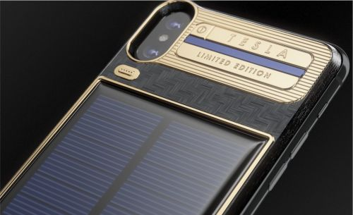 IPhone X luxury battery case with integrated solar panel hits market, but costs 4x phone price