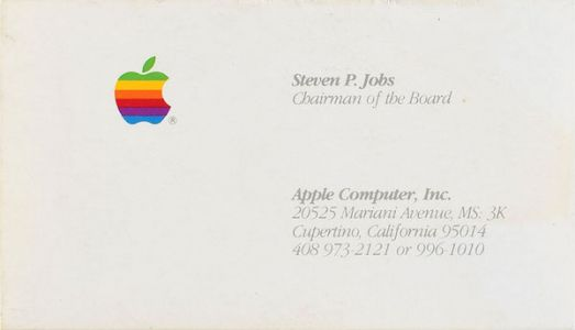 Someone Just Paid Over $6,000 for a Steve Jobs Business Card
