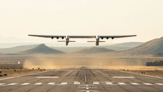 Stratolaunch, the world's biggest airplane, takes flight