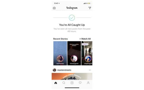 Instagram testing new 'You're all caught up' feature to improve digital health