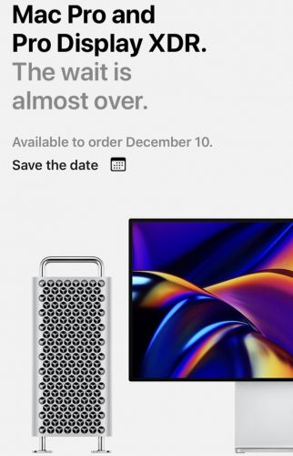 Apple to Release Mac Pro and Pro Display XDR on December 10