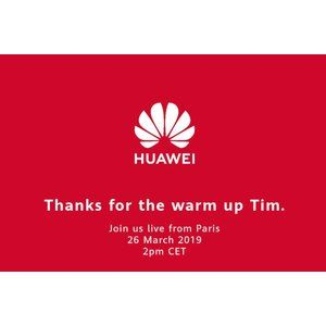 "Huawei thanks Apple and CEO Cook for warming up the crowd before tomorrow's ""main event"""