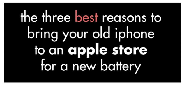 Comic: The Three Best Reasons to Bring Your Old iPhone to an Apple Store For a New Battery