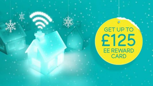 EE is giving away reward cards worth up to £125 with all broadband deals for two weeks only