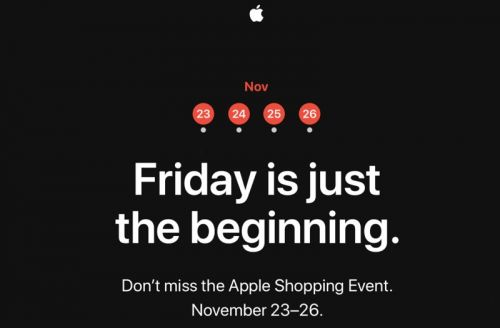Apple to Hold Four Day Shopping Event Starting on Black Friday