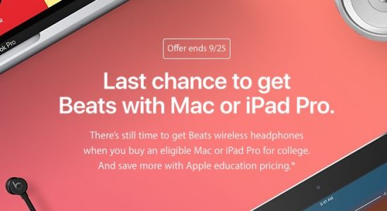 Students: Last Week to Get Free Beats With Mac or iPad Pro Purchase