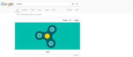 Madness: Google Search now has a built-in fidget spinner