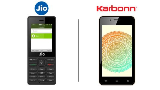 Reliance JioPhone vs Airtel Karbonn 4G Indian