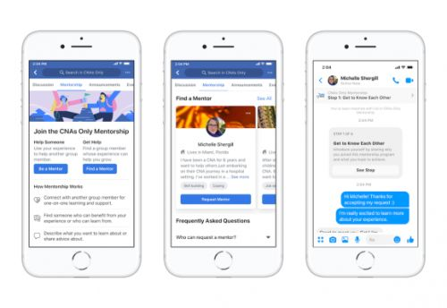 Facebook tweaks group mentorship tool so users can choose their mentors